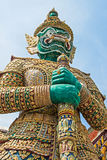 Demon Guardian at Wat Phra Kaew, Bangkok, Thailand. Stock Image