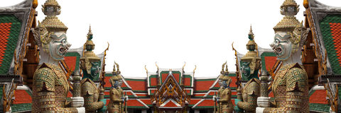Demon Guardian Wat Phra Kaew Grand Palace Bangkok Royalty Free Stock Photography