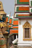 Demon Guardian in Wat Phra Kaew Grand Palace Bangkok Royalty Free Stock Images