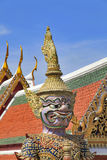 Demon Guardian Wat Phra Kaew Grand Palace Bangkok Stock Photo