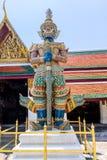 Demon Guardian at Wat Phra Kaew Grand Palace royalty free stock photos