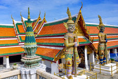 Demon Guardian at Wat Phra Kaew, Temple of the Emerald Buddha, Bangkok, Thailand Royalty Free Stock Images