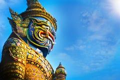 Demon Guardian at Wat Phra Kaew - the Temple of Emerald Buddha in Bangkok, Thailand Stock Photography