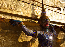 Demon  Guardian at Wat Phra Kaew - the Temple of Emerald Buddha i Stock Image