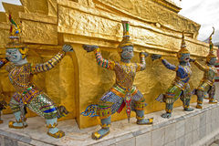 The demon guardian in Wat Phra Kaew temple grand palace, Thaialnd Stock Photography