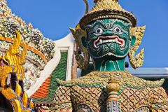 Demon guardian at Wat Pra Kaew Royalty Free Stock Images
