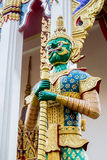 Demon Guardian Wat Sriburaparam Palace Trat. Provice of thailand Royalty Free Stock Images