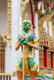 Demon Guardian Wat Sriburaparam Palace Trat. Provice of thailand Stock Photography