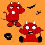 Demon halloween cartoon kid set Royalty Free Stock Photography