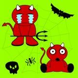 Demon halloween cartoon kid set2 Stock Images