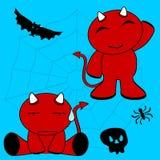 Demon halloween cartoon kid set3 Royalty Free Stock Photography
