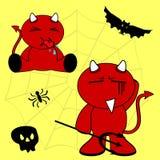Demon halloween cartoon kid set4 Royalty Free Stock Photography