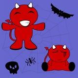 Demon halloween cartoon kid set5 Stock Photography