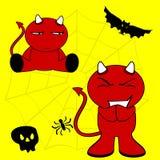 Demon halloween cartoon kid set7 Royalty Free Stock Photo