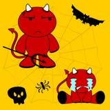 Demon halloween cartoon kid set8 Royalty Free Stock Photo