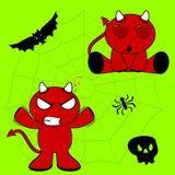 Demon halloween cartoon kid set9 Royalty Free Stock Photo