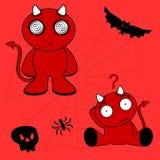 Demon halloween cartoon kid set0 Royalty Free Stock Photos