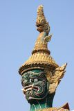 Demon head. Gient demon head, Grand palace, Thailand Stock Images