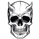 Demon Head Skull Vector. Illustrations Royalty Free Stock Images