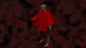 Demon i helvete stock illustrationer