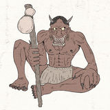 Demon illustration Stock Images