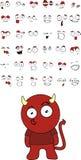 Demon kid cartoon set. In vector format vector illustration