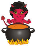 Demon and large boil Royalty Free Stock Image
