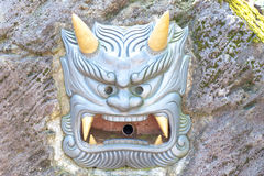 Demon mask  Japanese Noh Theater Royalty Free Stock Image