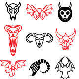 Demon and monster icons Royalty Free Stock Photos