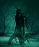 Demon. Monster in the swamp at night Royalty Free Stock Image