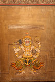 Demon on Mural painting at Wat Pho, Bangkok Stock Photos
