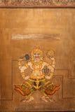 Demon on Mural painting at Wat Pho, Bangkok stock photos