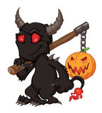 Demon with the pumpkin Royalty Free Stock Photo
