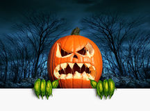 Demon Pumpkin Sign Stock Images