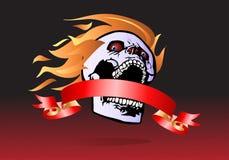 Demon ribbon banner royalty free stock photos