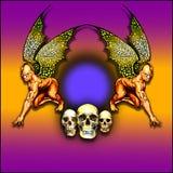 demon skrzydlata ramowy Zdjęcia Royalty Free
