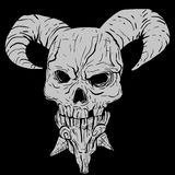 Demon Skull Royalty Free Stock Photography