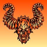 Demon skull vector illustration Stock Photos
