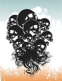 Demon skulls illustration Stock Images