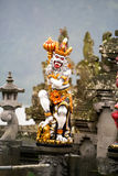 Demon statue in Hindu temple Royalty Free Stock Photography
