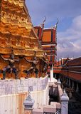 Demon statues, Grand Palace, Bangkok, Thailand. Royalty Free Stock Photography