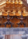 Demon statues, Grand Palace, Bangkok, Thailand. Stock Photos