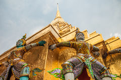 Demon statues at Wat Phra Kaew in Grand Palace, Bangkok Royalty Free Stock Images