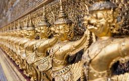 Demon statuy przy Ubosoth główna świątynia w Wata Phra Kaew pałac, także znać jako Szmaragdowa Buddha świątynia Bangkok, Thail Zdjęcie Royalty Free