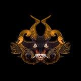 Demon Tribal Mask vector illustration