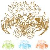 demon twarze Zdjęcie Royalty Free