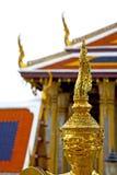 Demon w świątyni Bangkok Asia dachu pałac wojownika potworze Obrazy Royalty Free