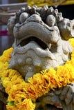 Demon w świątyni Bangkok Asia kwiacie Zdjęcia Royalty Free