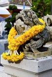 demon w świątyni Bangkok Asia kwiatu wojownika potworze Zdjęcie Stock