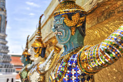 Demon Guard Wat Phra Kaew Grand Palace Bangkok. Demon guard in the temple of the Emerald Buddha Wat Phra Kaew Grand Palace in Bangkok royalty free stock photography